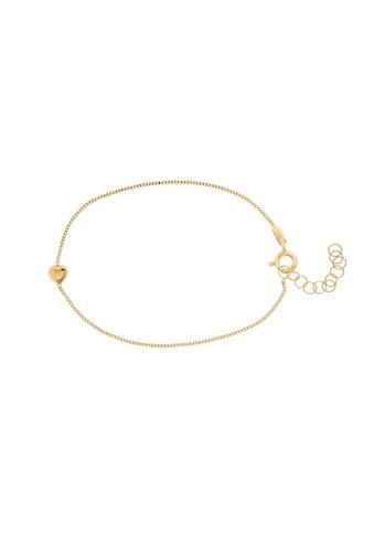 La Piora Armband »Herz«, Panzerkette 2-fach diamantiert, 925/- Sterlingsilber gelbvergoldet kaufen