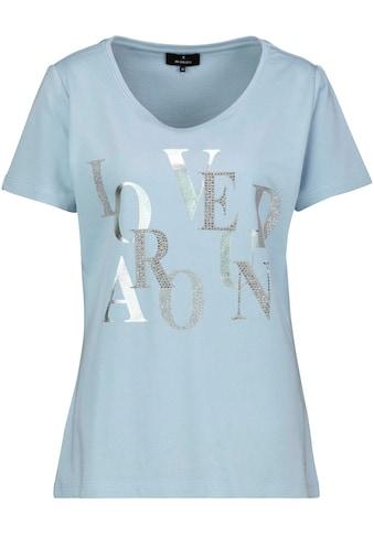 Monari Kurzarmshirt, mit funkelnden Buchstaben aus Glitter, Strass und Lackdruck kaufen