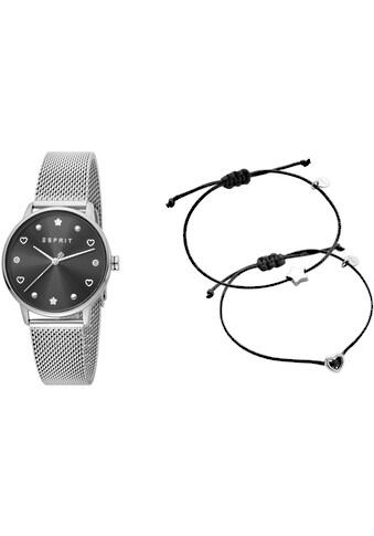 Esprit Quarzuhr »Noel, ES1L174M0065«, (Set, 3 tlg., mit 2 Armbändern) kaufen