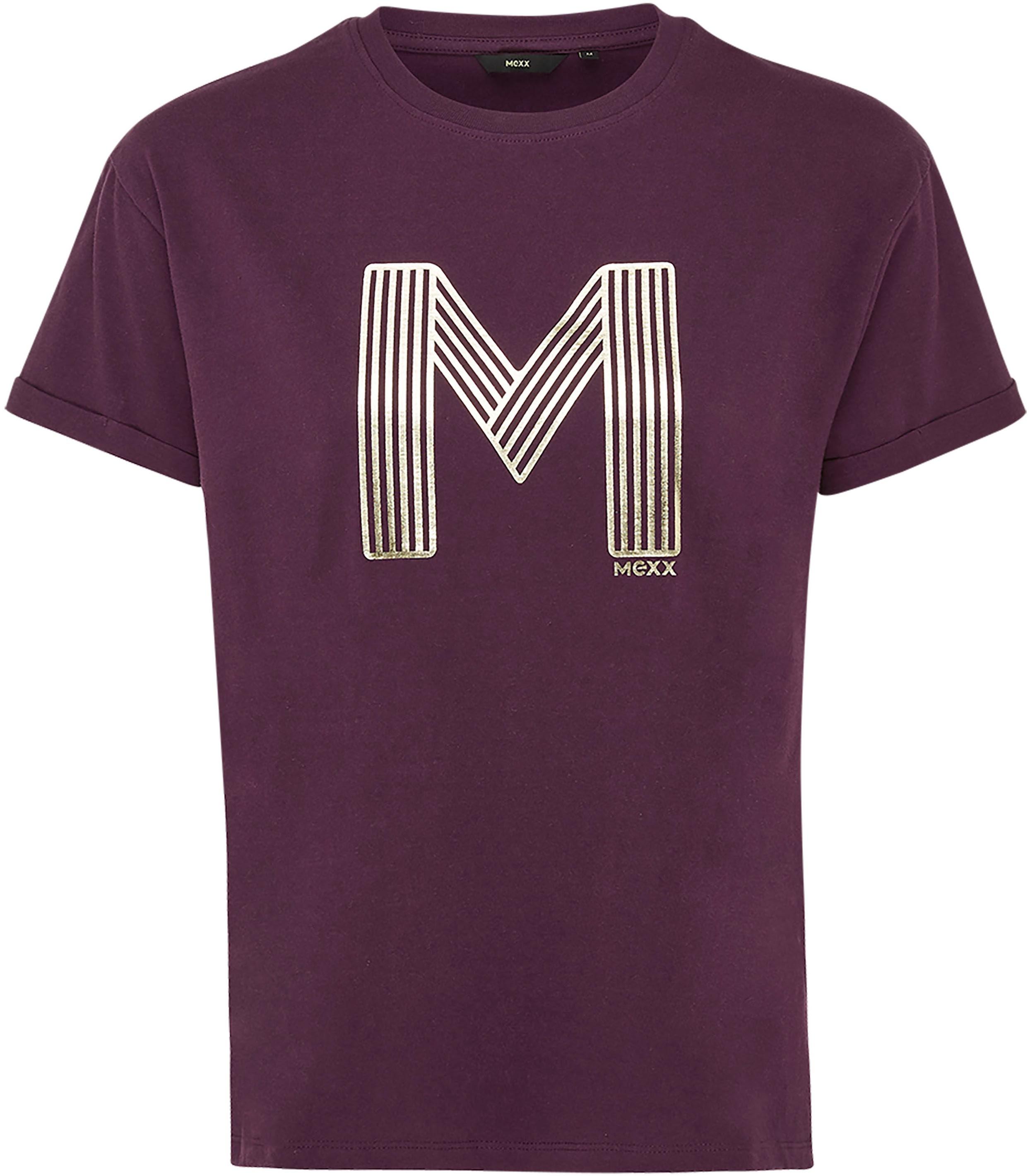 mexx -  T-Shirt, mit Metallic-Print