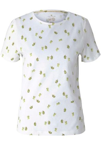 TOM TAILOR Print-Shirt, mit Bio-Baumwolle kaufen