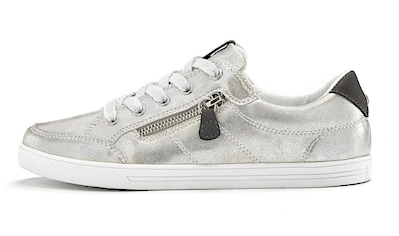 LASCANA Sneaker, in Metallic-Optik und seitlichem Zierreißverschluss kaufen