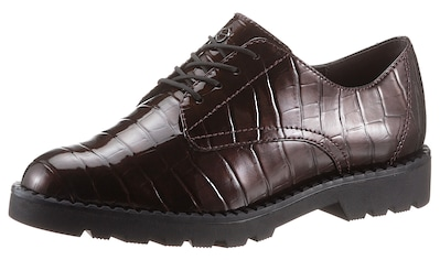 Tamaris Schnürschuh, im trendigen Kroko-Look kaufen