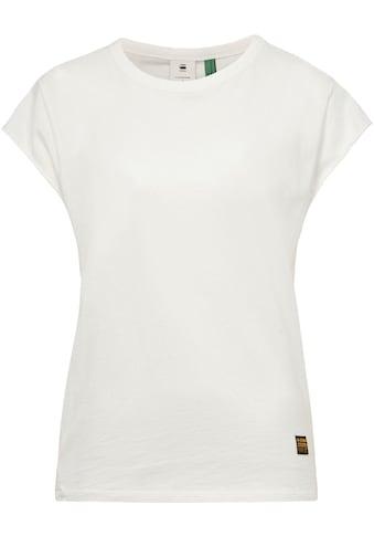 G-Star RAW T-Shirt »GSRAW Knotted Top«, wasserbasierter G-Star RAW Grafikprint auf der Rückseite kaufen