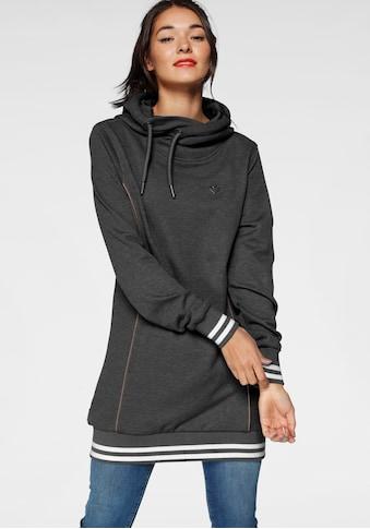 Alife & Kickin Sweatshirt »JilAK«, sportiver Hoodie mit Kontrastbündchen & Details in Lederoptik kaufen
