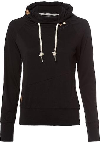 Ragwear Sweatshirt »FUGE«, mit Zierknopfbesatz in Holzoptik kaufen