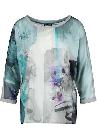 Taifun Shirtbluse, im Materialmix, vorne Bluse hinten Shirt kaufen