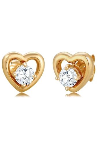 Elli Paar Ohrstecker »Herzen, 308622119«, mit Zirkonia kaufen