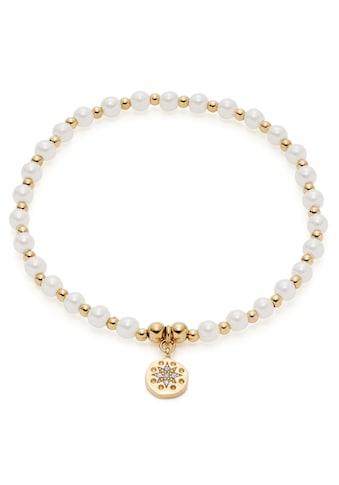 CIAO! BY LEONARDO Armband »Pelena gold CIAO, 021178«, mit Kristallglas - mit Muschelkernperle kaufen