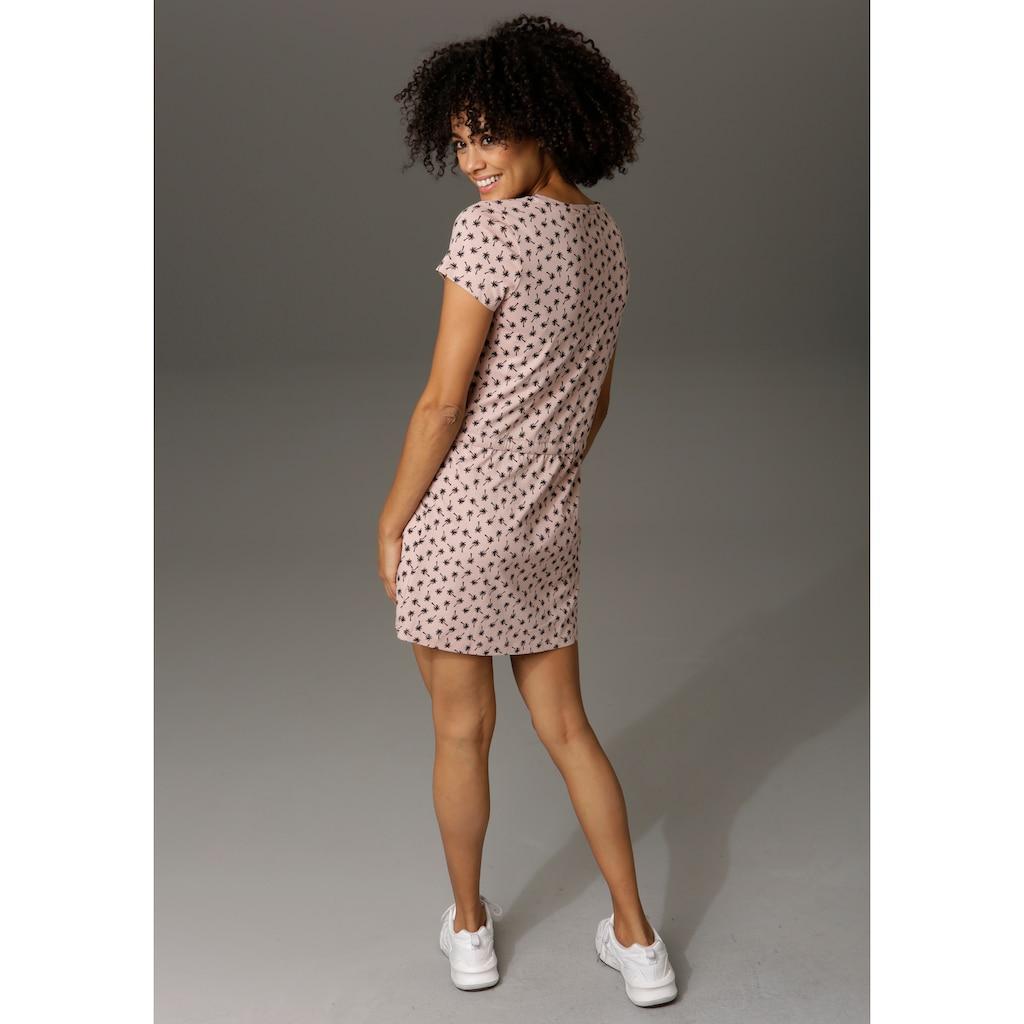 Aniston CASUAL Sommerkleid, mit Palmen oder Punkten bedruckt - Du hast die Wahl - NEUE KOLLEKTION