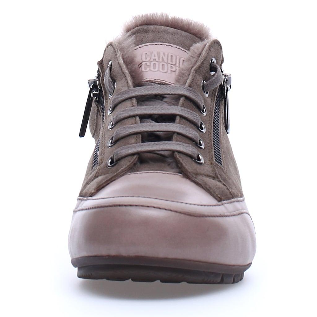 Candice Cooper Sneaker »Stone-Olivia«, mit praktischem Außenreißverschluss