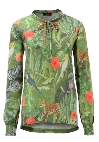 Aniston CASUAL Schlupfbluse, Dschungel-Dessin mit exotischen Tieren kaufen