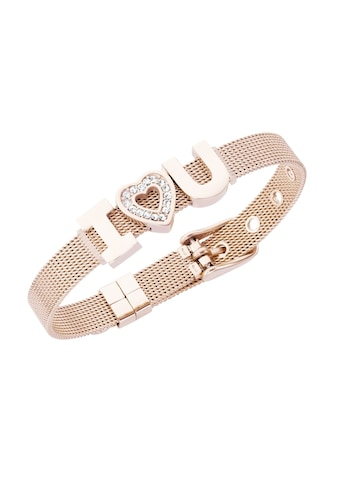Jacques Charrel Armband »Milanaise mit Kristallsteinen I Love You« kaufen