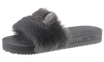 Flip Flop Pantolette »POOL FUR*MOUSE METALLIC«, mit Metallic-Öhrchen kaufen