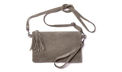 LASCANA Umhängetasche, Clutch aus Leder mit modischen Tasseln kaufen