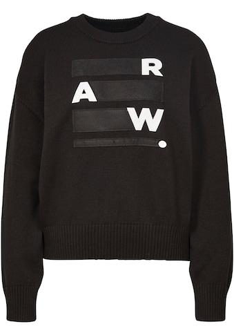 G-Star RAW Sweatshirt »Raw space gr bf r knit«, mit großer Logo-Applikation vorne kaufen