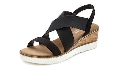 LASCANA Sandalette, mit Keilabsatz und elastischen Riemen kaufen