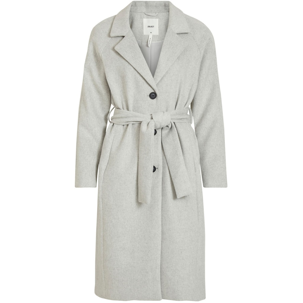 Object Trenchcoat »OBJLENA«, mit recycelter Wolle