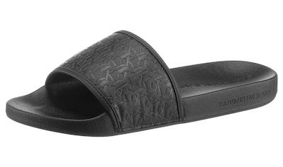 Calvin Klein Badesandale »Calvin Klein Jeans Ferenc«, mit allover Logo kaufen