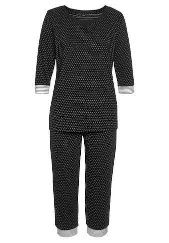 Vivance Dreams Capri-Pyjama, mit Pünktchen- und Streifenmuster kaufen