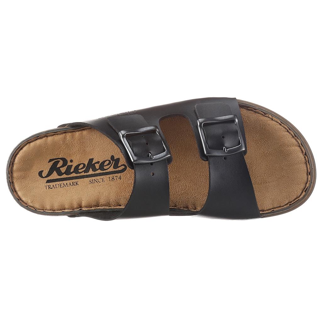 Rieker Pantolette, mit zwei verstellbaren Schnallen