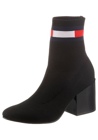 Tommy Jeans Stiefelette »FLAG SOCK MID HEEL BOOT«, mit Stretchfunktion kaufen