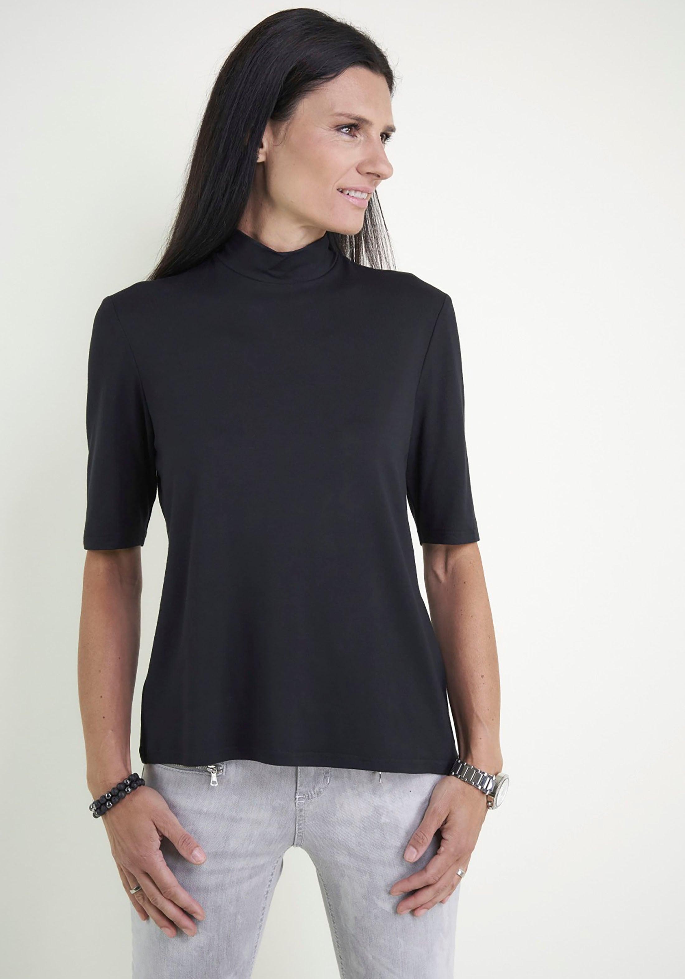 seidel moden -  T-Shirt, mit Stehkragen, Made in Germany