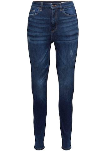 edc by Esprit Skinny-fit-Jeans, in authentischer Waschung mit destroyed Effekten kaufen