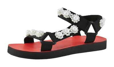 Sandalette mit Perlenbesatz kaufen