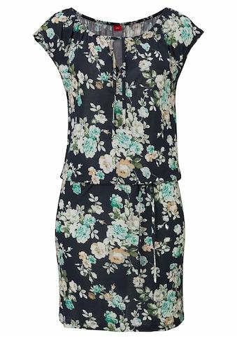 s.Oliver Beachwear Sommerkleid, (mit Bindeband), mit Blumenprint kaufen