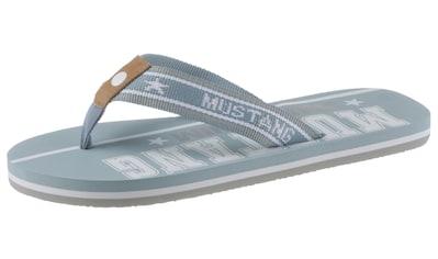 Mustang Shoes Zehentrenner, mit bedruckter Innensohle kaufen