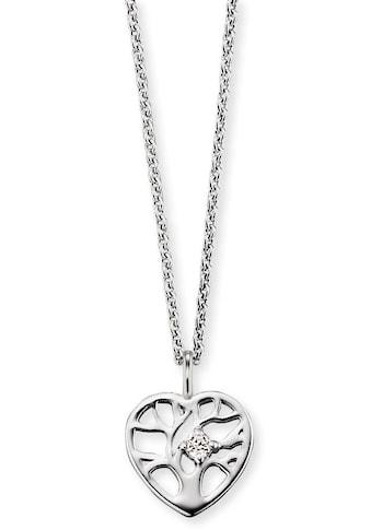 Herzengel Kette mit Anhänger »Kette mit Herz Lebensbaum, HEN-TREE-ZI«, mit Zirkonia kaufen