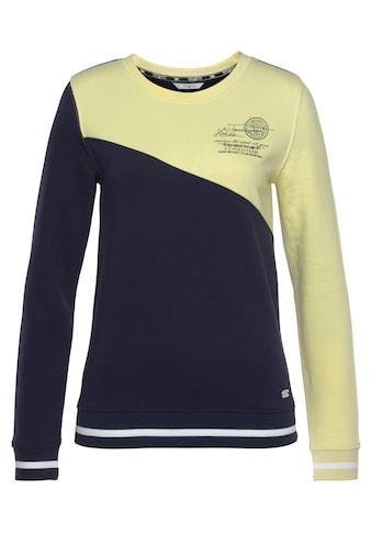 TOM TAILOR Polo Team Sweatshirt, in Colorblocking -Look mit Ziersteppung kaufen
