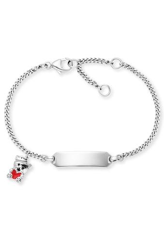 Herzengel Armband »ID Bärchen mit Herz, HEB-ID-TEDDYLOVE«, mit Emaille kaufen