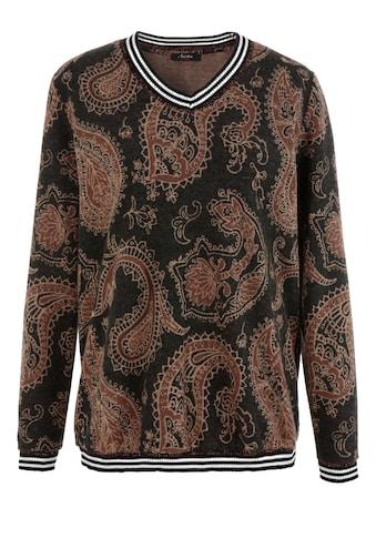 Aniston CASUAL Sweatshirt, mit gestreiften Bündchen - NEUE KOLLEKTION kaufen