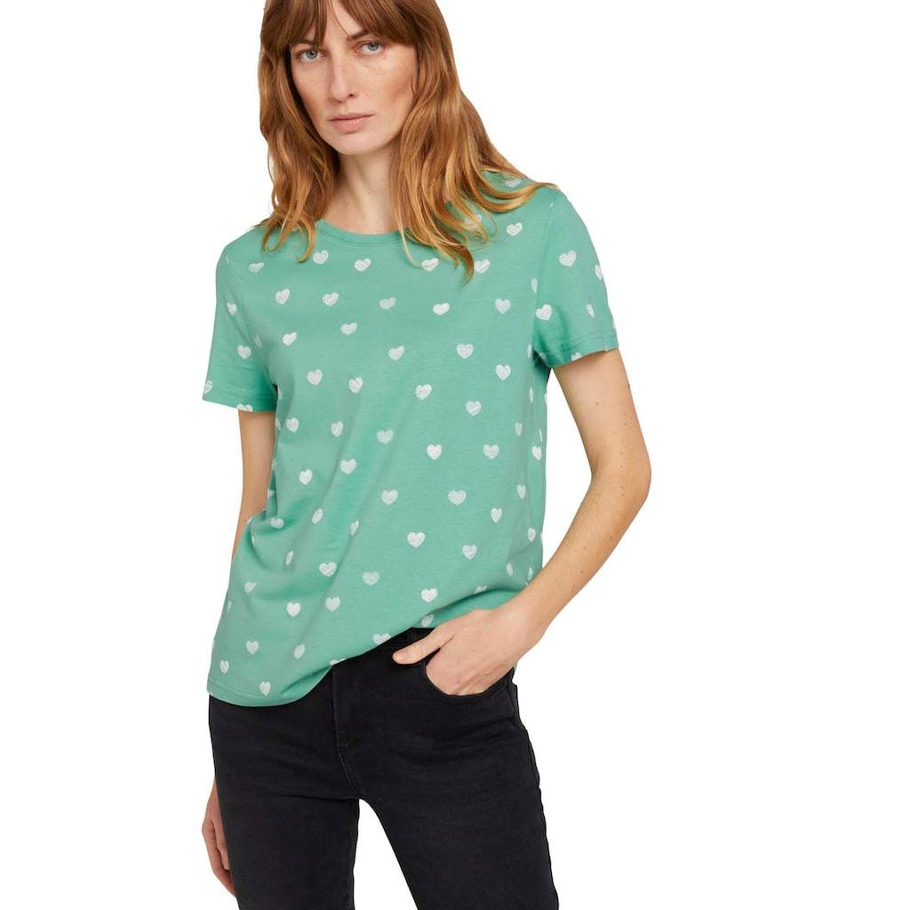 TOM TAILOR T-Shirt, mit modischen Allover-Prints