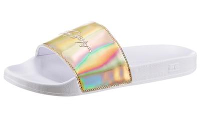 TOMMY HILFIGER Badepantolette »FEMININE TH POOL SLIDE«, mit schimmender Bandage kaufen