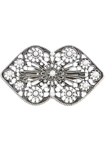 Alpenflüstern Trachtenbrosche mit Perlen kaufen