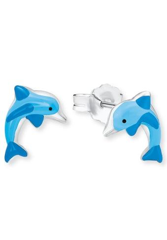 Amor Paar Ohrstecker »Delfin, 9211296«, mit Emaille kaufen