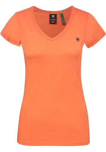 G-Star RAW V-Shirt »Eyben Slim V-Shirt«, mit Chest Branding kaufen