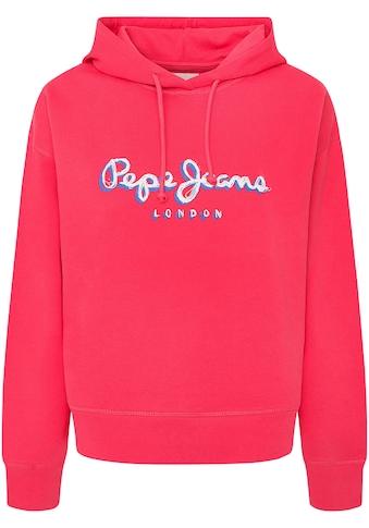 Pepe Jeans Hoodie »BRIGITTE«, mit großem buntem Marken-Logo-Druck im Brustbereich kaufen
