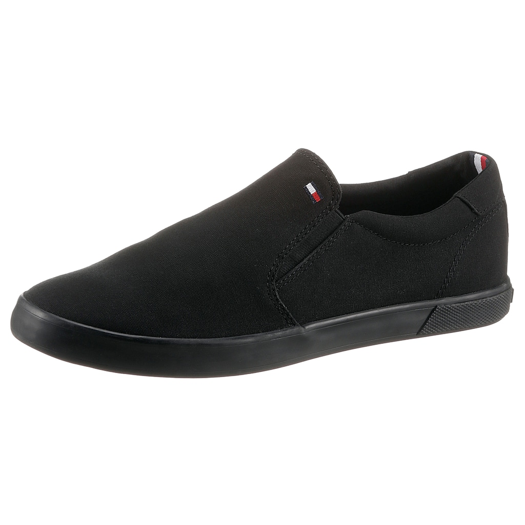 TOMMY HILFIGER Slip-On Sneaker »ICONIC SLIP ON SNEAKER«, mit seitlichen Stretcheinsätzen