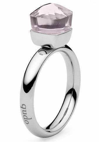 qudo Fingerring »Firenze small, 636531«, mit Glasstein kaufen