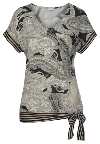 LASCANA Kurzarmshirt, mit Paisleyprint kaufen
