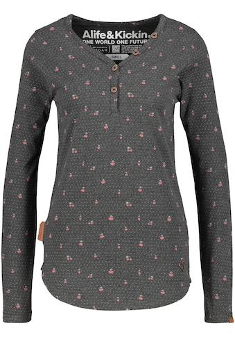 Alife & Kickin T-Shirt »DaisyAK«, Langarmshirt mit Knopfleise und Alloverprint kaufen