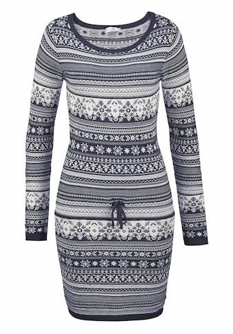 AJC Strickkleid, mit Norweger Muster kaufen