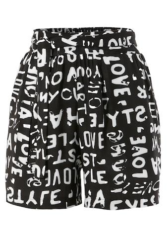 Aniston CASUAL Shorts, mit Wörtern bedruckt - NEUE KOLLEKTION kaufen