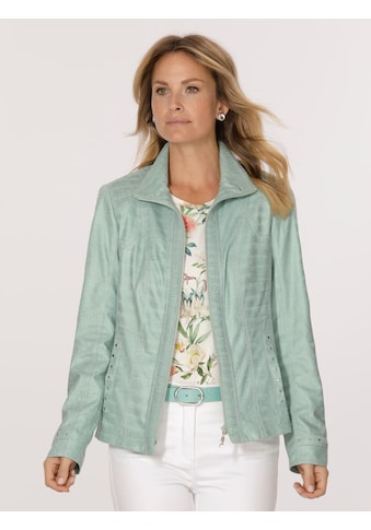 Mona Lederimitat-Blazer mit dezenter Prägung kaufen