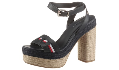 TOMMY HILFIGER High-Heel-Sandalette »TH INTERLACE HIGH HEEL SANDAL«, mit gestreiftem Textilband kaufen