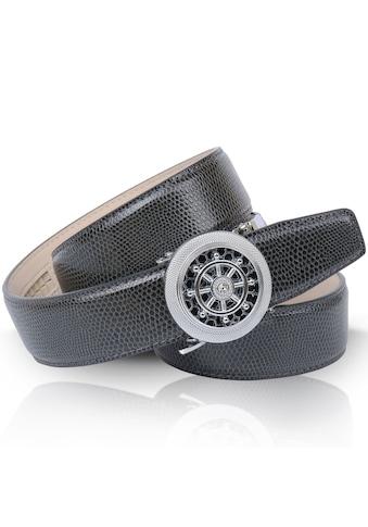 Anthoni Crown Ledergürtel, mit drehendem Steuerruder und eleganter Oberflächennarbung kaufen